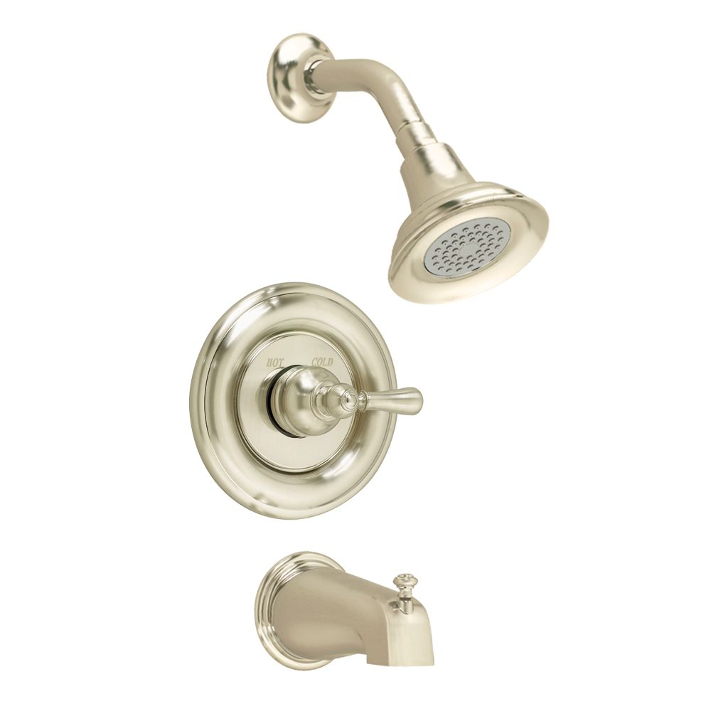 Hampton Bath/Shower Faucet in Satin Nickel