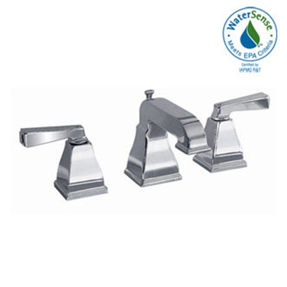 Town Square Widespread 2-Handle Low-Arc Bathroom Faucet in Satin Nickel Finish