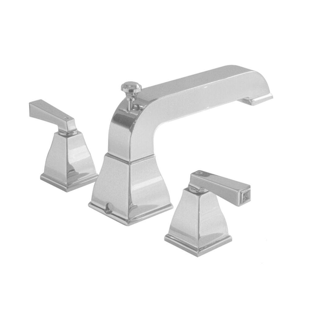 Town Square 2-Handle Deck-Mount Roman Bath Faucet in Satin Nickel