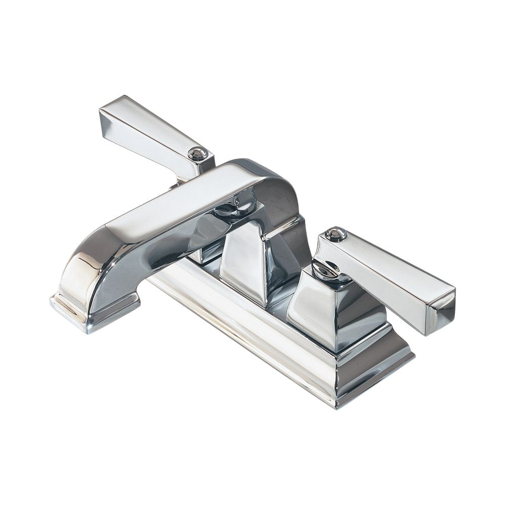 Town Square 4-inch 2-Handle Low-Arc Bathroom Faucet in Polished Chrome Finish