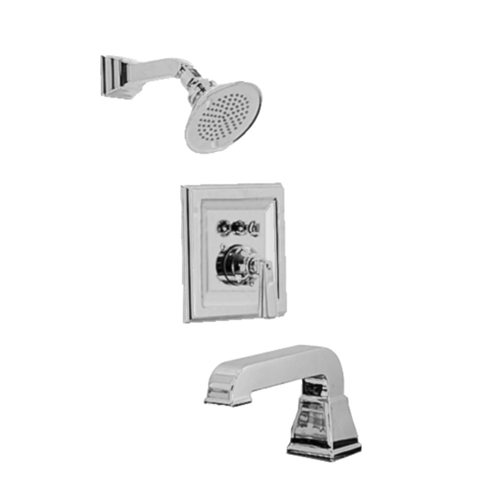 Town Square Bath/Shower Faucet in Satin Nickel