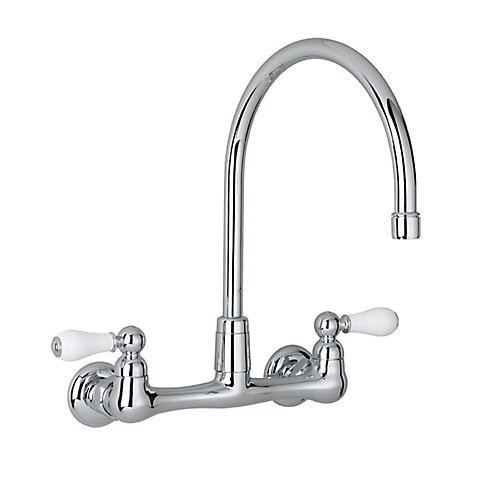 standard handle american high mount faucet kitchens arc wall gooseneck kitchen heritage faucets