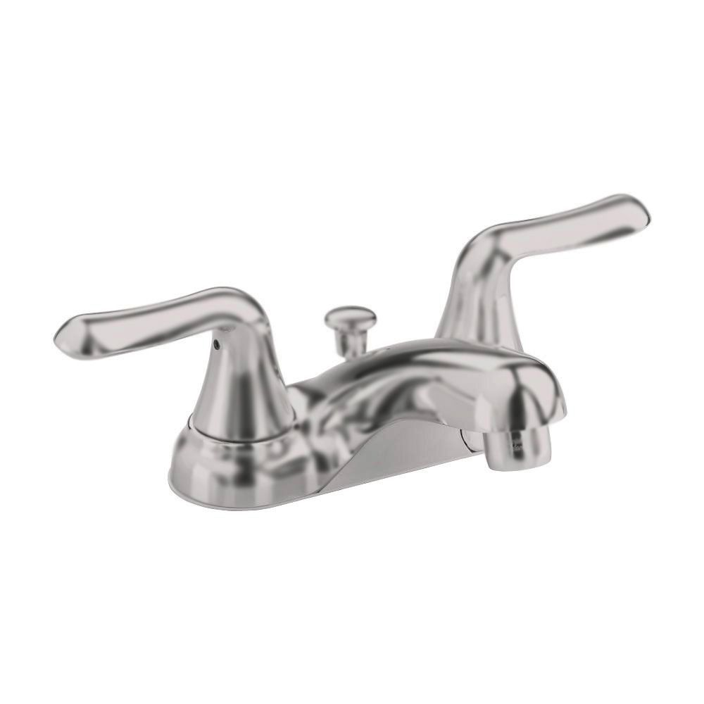 Colony Soft 4-inch 2-Handle Bathroom Faucet with Speed Connect Drain in Satin Nickel Finish