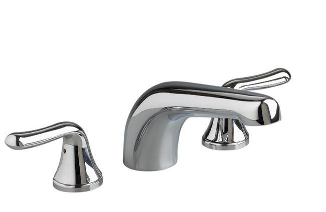 Colony Soft 2-Handle Deck-Mount Bath Faucet in Satin