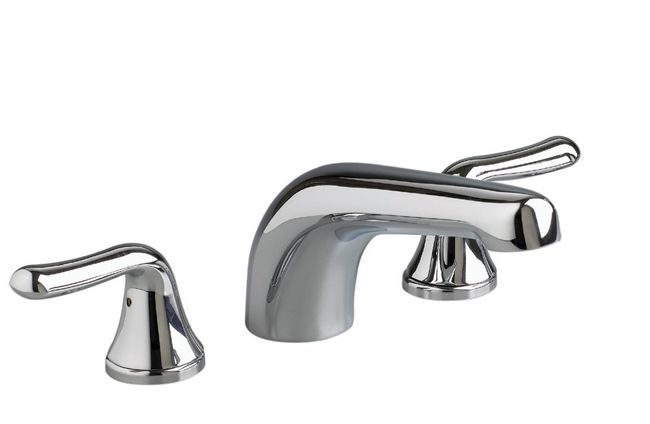 Colony Soft 2-Handle Deck-Mount Bath Faucet in Satin