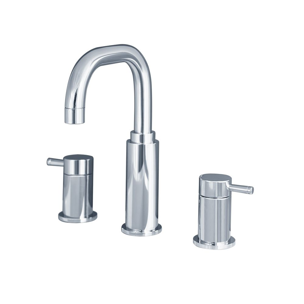 Serin 8-inch Widespread 2-Handle High-Arc Bathroom Faucet in Polished Chrome Finish
