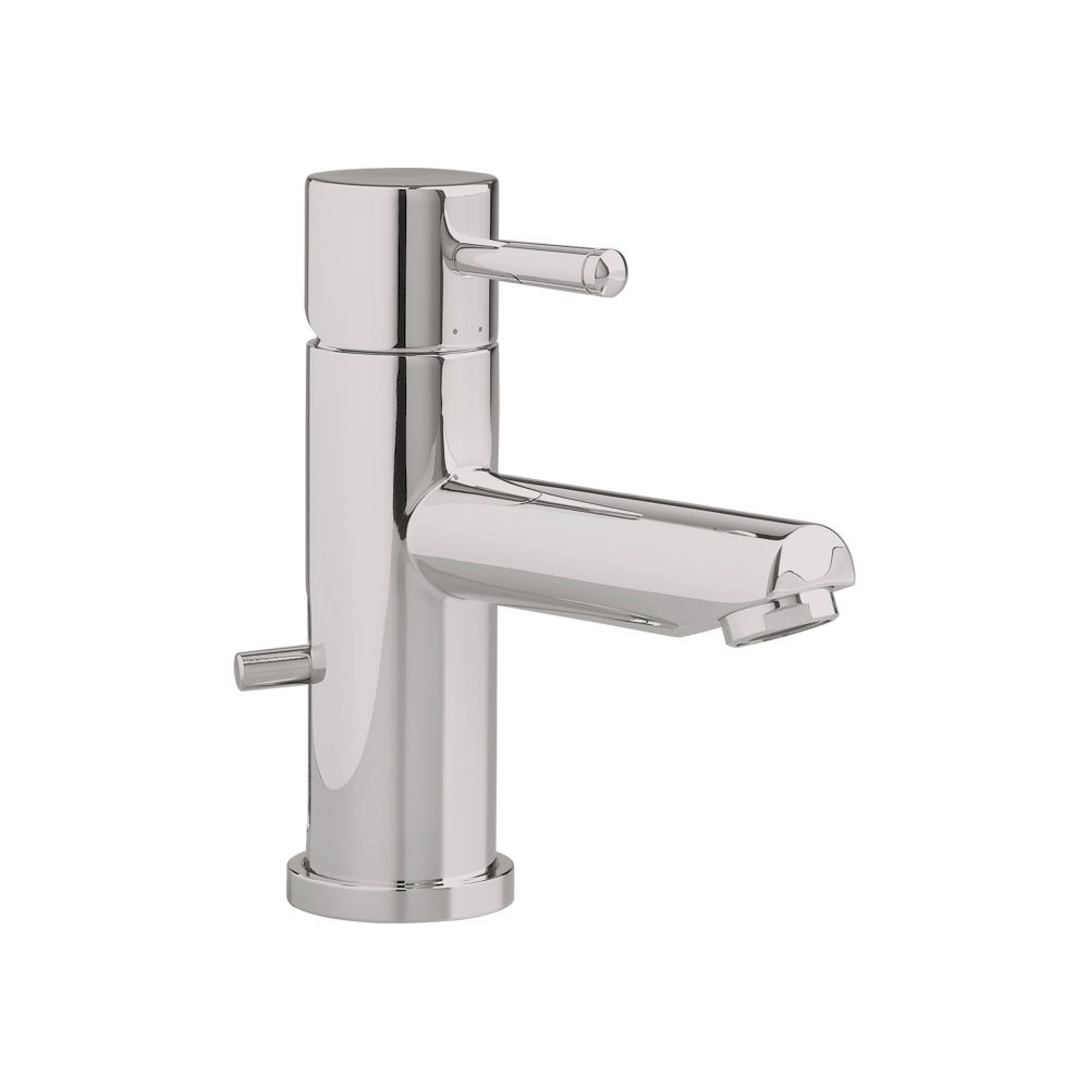 Serin Single Hole Single-Handle Low-Arc Bathroom Faucet with Speed Connect Drain in Satin Nickel