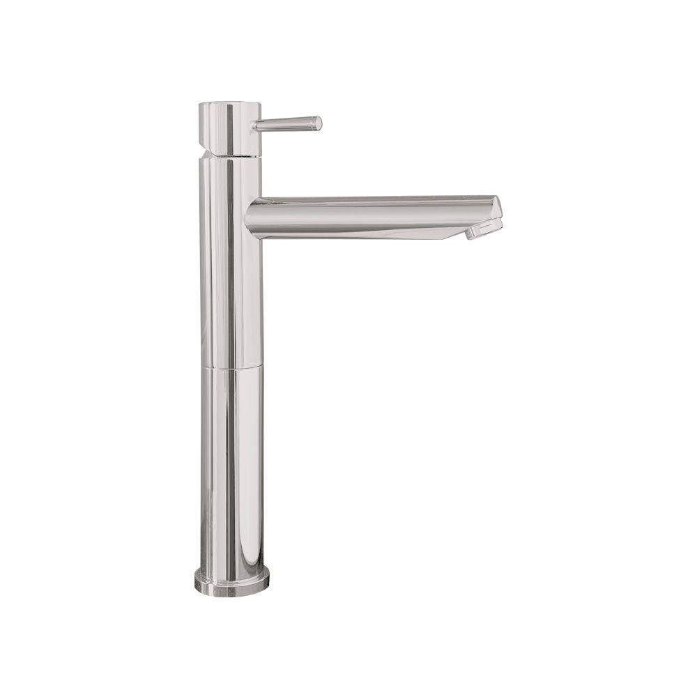 Serin Single Hole Single-Handle High-Arc Bathroom Vessel Faucet in Satin Nickel Finish