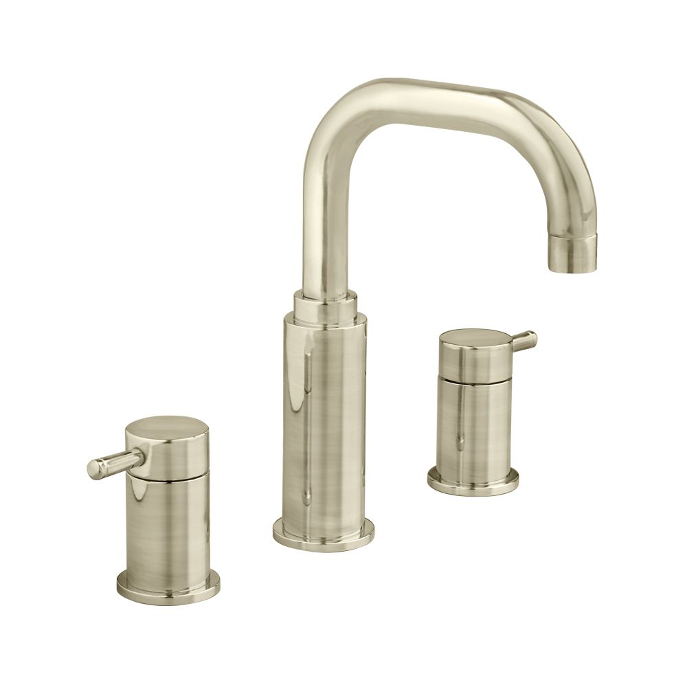 Serin 8 Inch Widespread 2-Handle High-Arc Bathroom Faucet in Satin ...