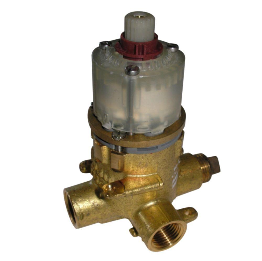 Corps de Valve - Contréle de débit et température avec robinets d arrêt