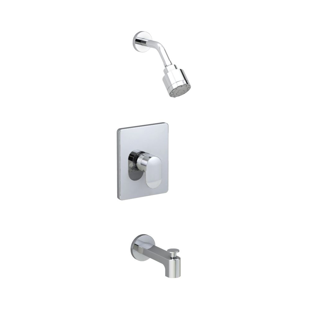 Moments Bath/Shower Faucet in Polished Chrome