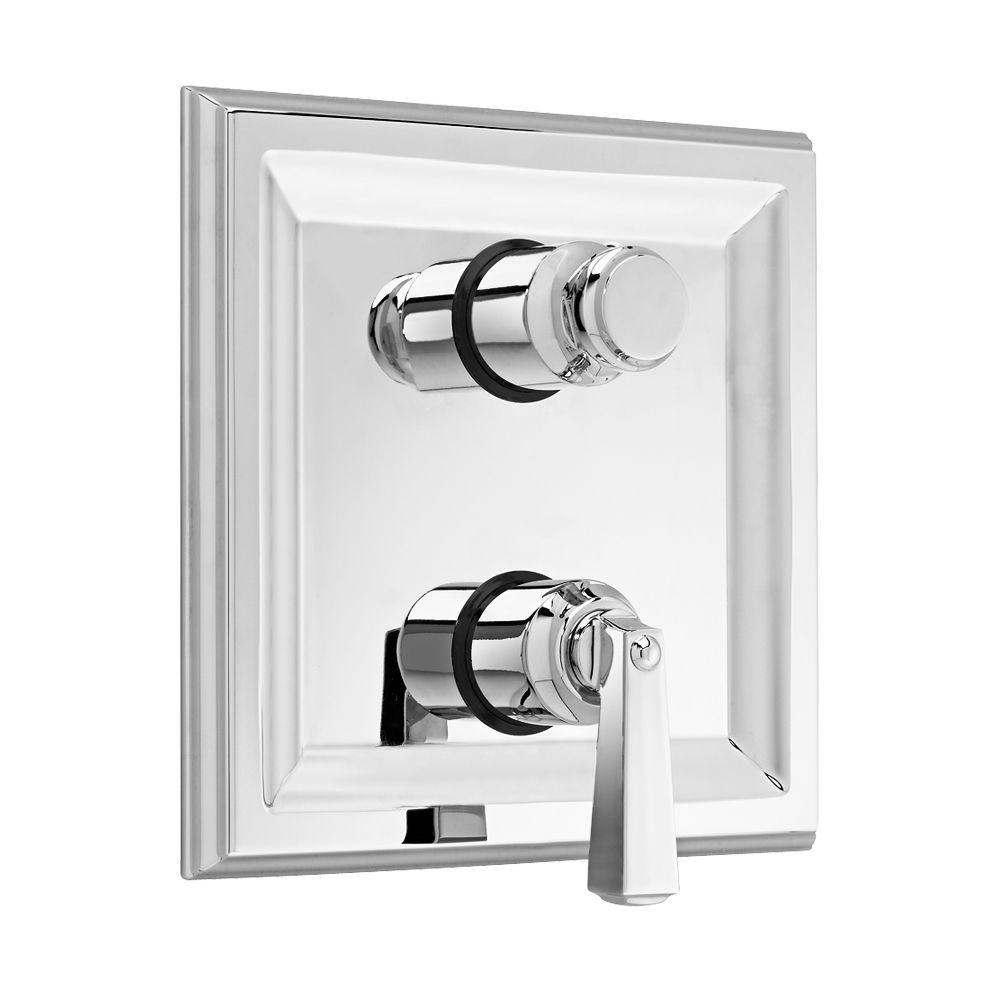 Town Square 2-Handle Thermostat Valve Trim Kit with Separate Volume Control in Polished Chrome (V...