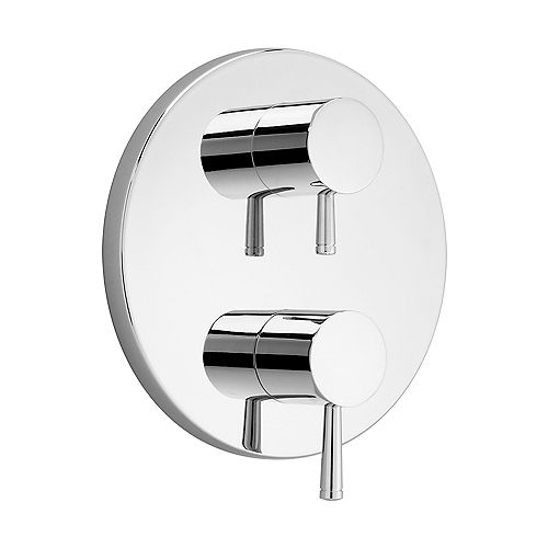 American Standard Serin 2-Handle Thermostat Valve Trim Kit in Chrome with Separate Volume Control (Valve Not Included)