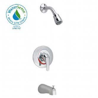 Colony Soft Bath/Shower Faucet with Flo-Wise Water Saving Showerhead in Polished Chrome