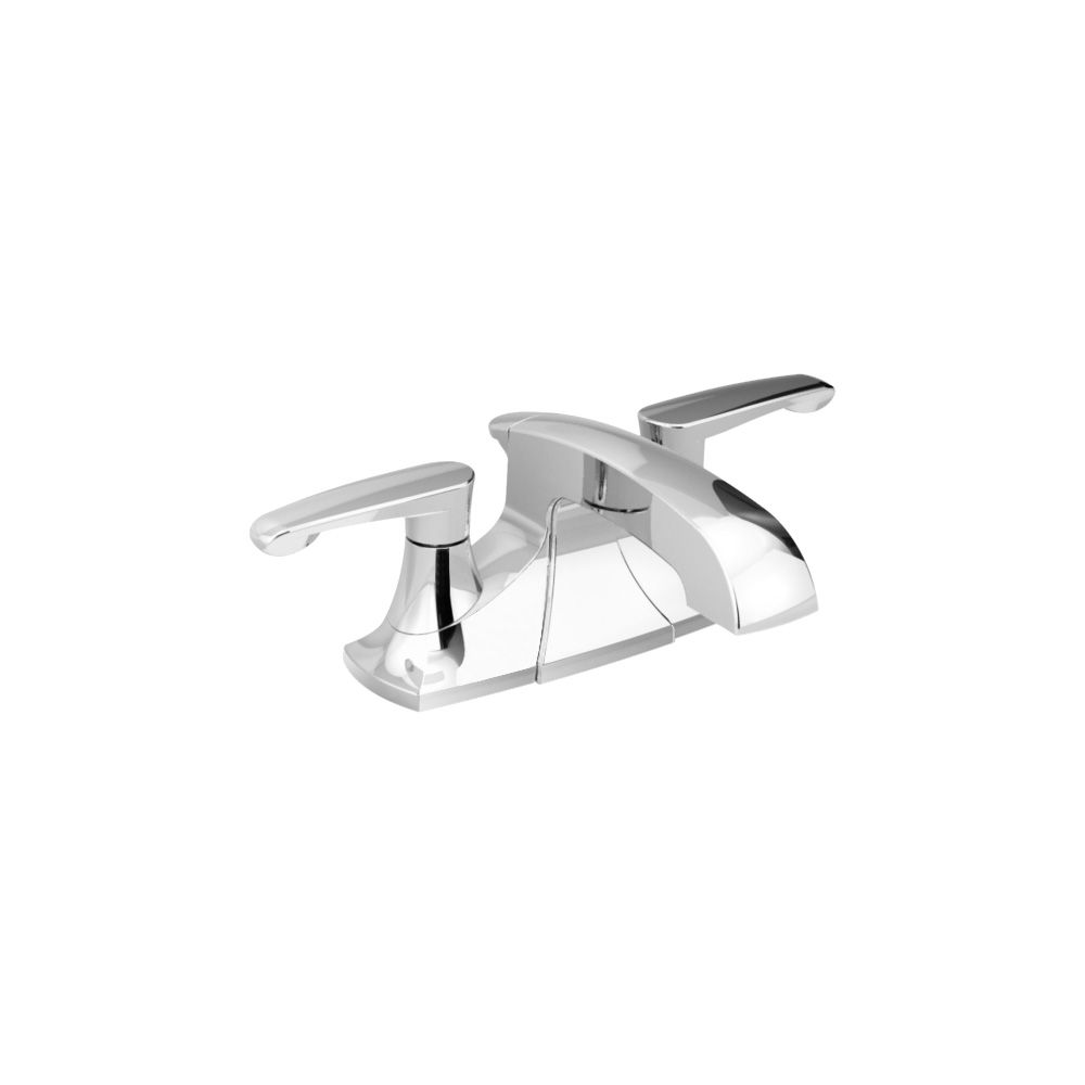 Copeland 4-inch 2-Handle Bathroom Faucet with Metal Speed Connect Pop-Up Drain in Polished Chrome