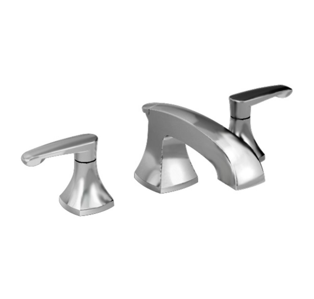 Copeland 8-inch 2-Handle Bathroom Faucet with Metal Speed Connect Pop-Up Drain in Satin Nickel