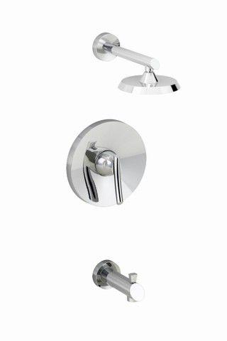 Green Tea Bath/Shower Faucet with 6 3/4-inch Rain Showerhead in Polished Chrome