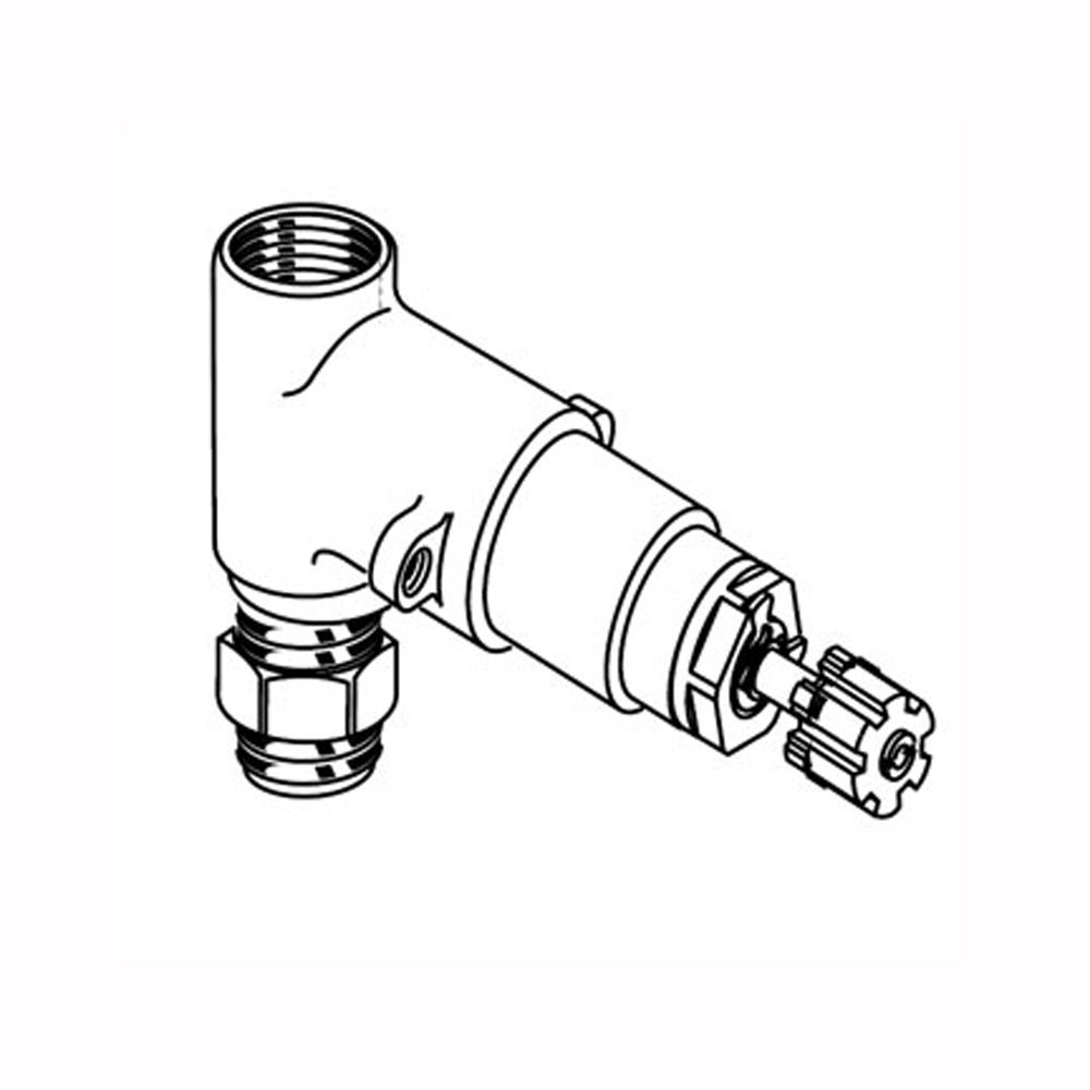 1/2 Inch Rough On/Off Volume Control Valves, 1/2 Inch Inlet/Outlet (Handle Not Included)