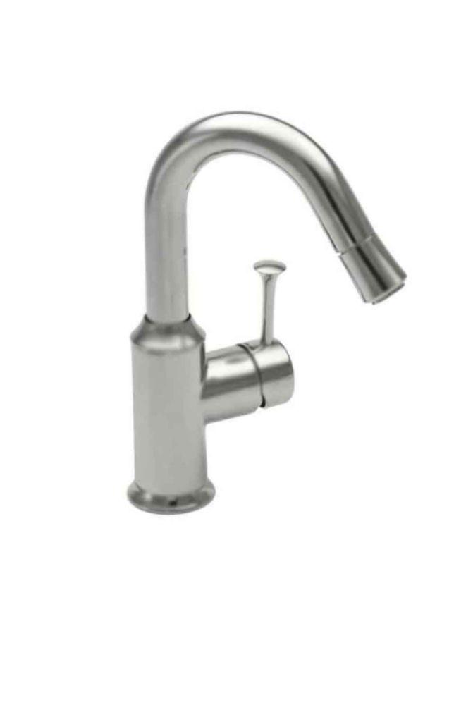 Pekoe Single-Handle Bar Faucet in Stainless Steel