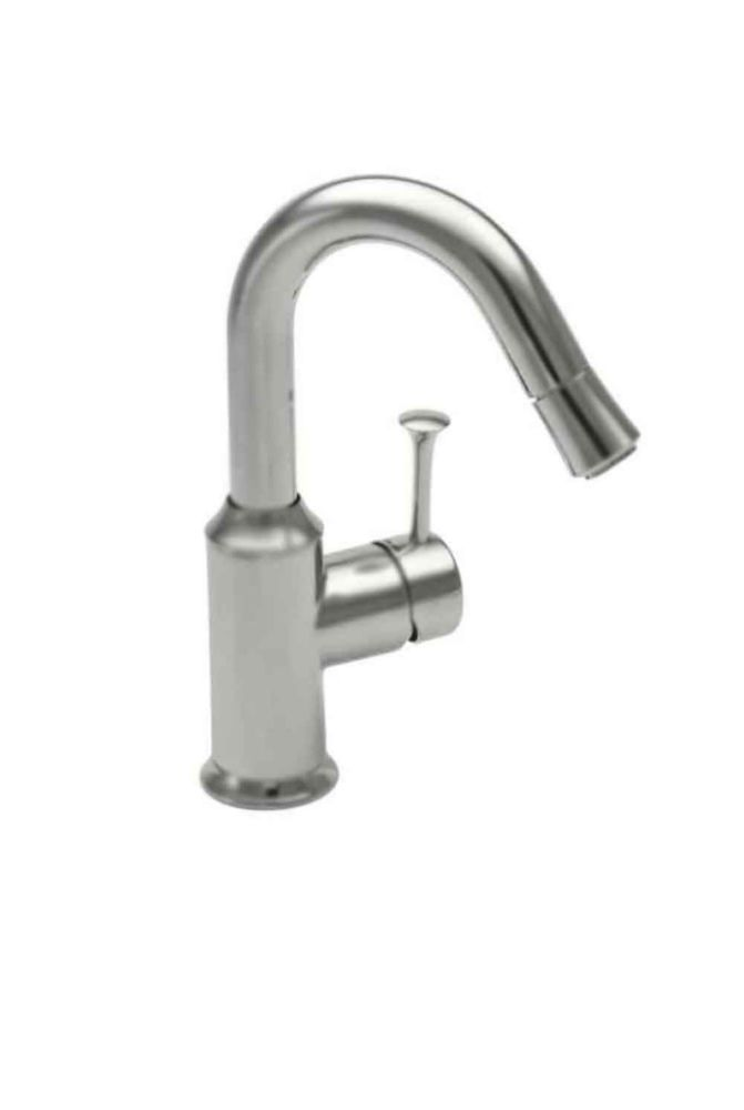 Pekoe Single-Handle Bar Faucet in Stainless Steel