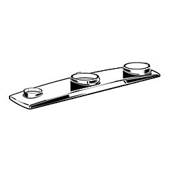 American Standard Arch Metal Escutcheon Plate in Polished Chrome