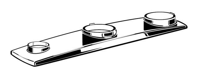 American Standard Arch Metal Escutcheon Plate in Polished Chrome