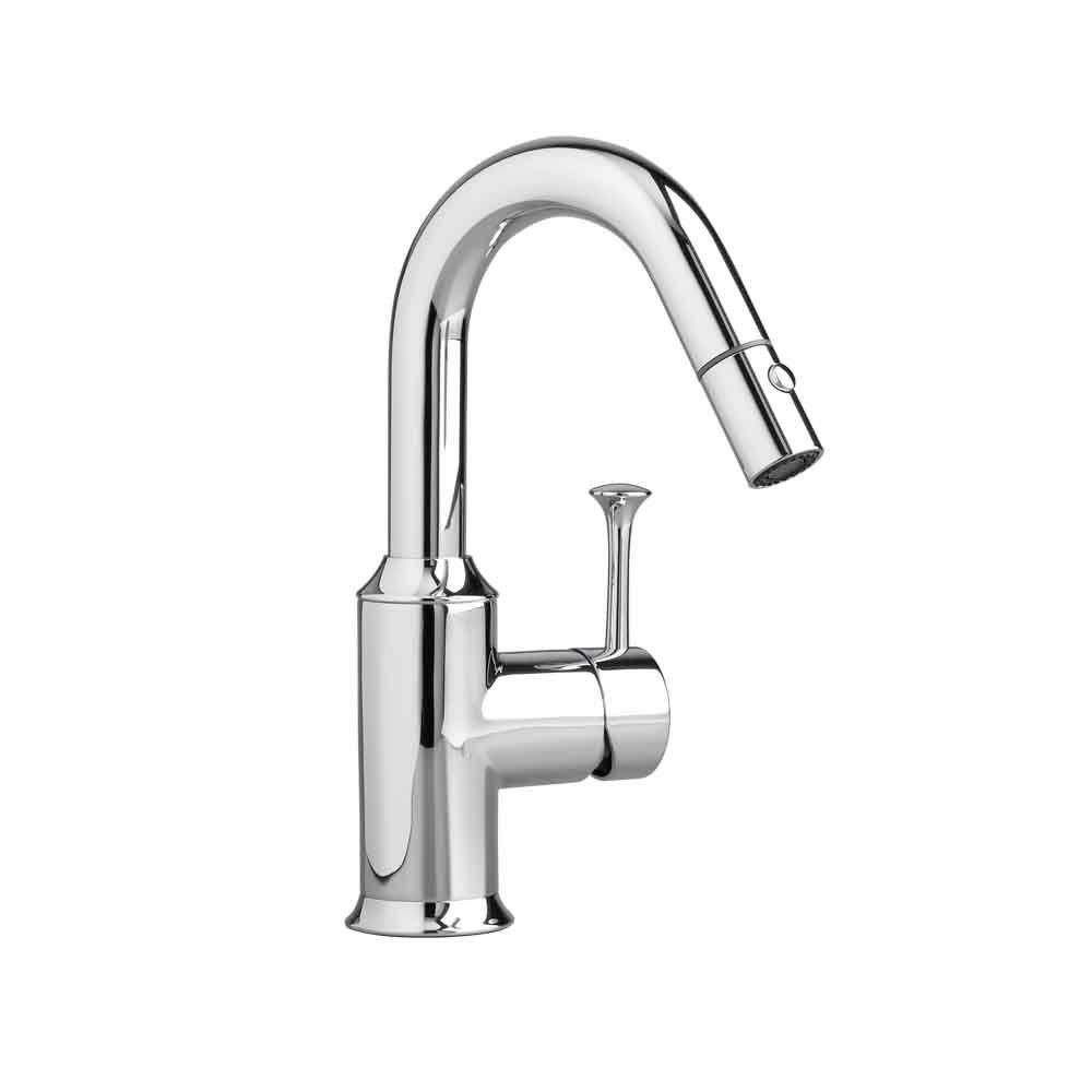 Pekoe Single-Handle Pull-Out Sprayer Kitchen Faucet in Polished Chrome