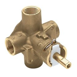 MOEN Brass Rough-In Posi-Temp Pressure-Balancing Cycling Tub and Shower Valve w/ 1/2-Inch IPS Connection