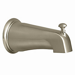 MOEN Monticello Diverter Tub Spout with Slip Fit Connection in Brushed Nickel