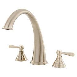 MOEN Kingsley Roman Bath Faucet in Brushed Nickel (Valve Sold Separately)