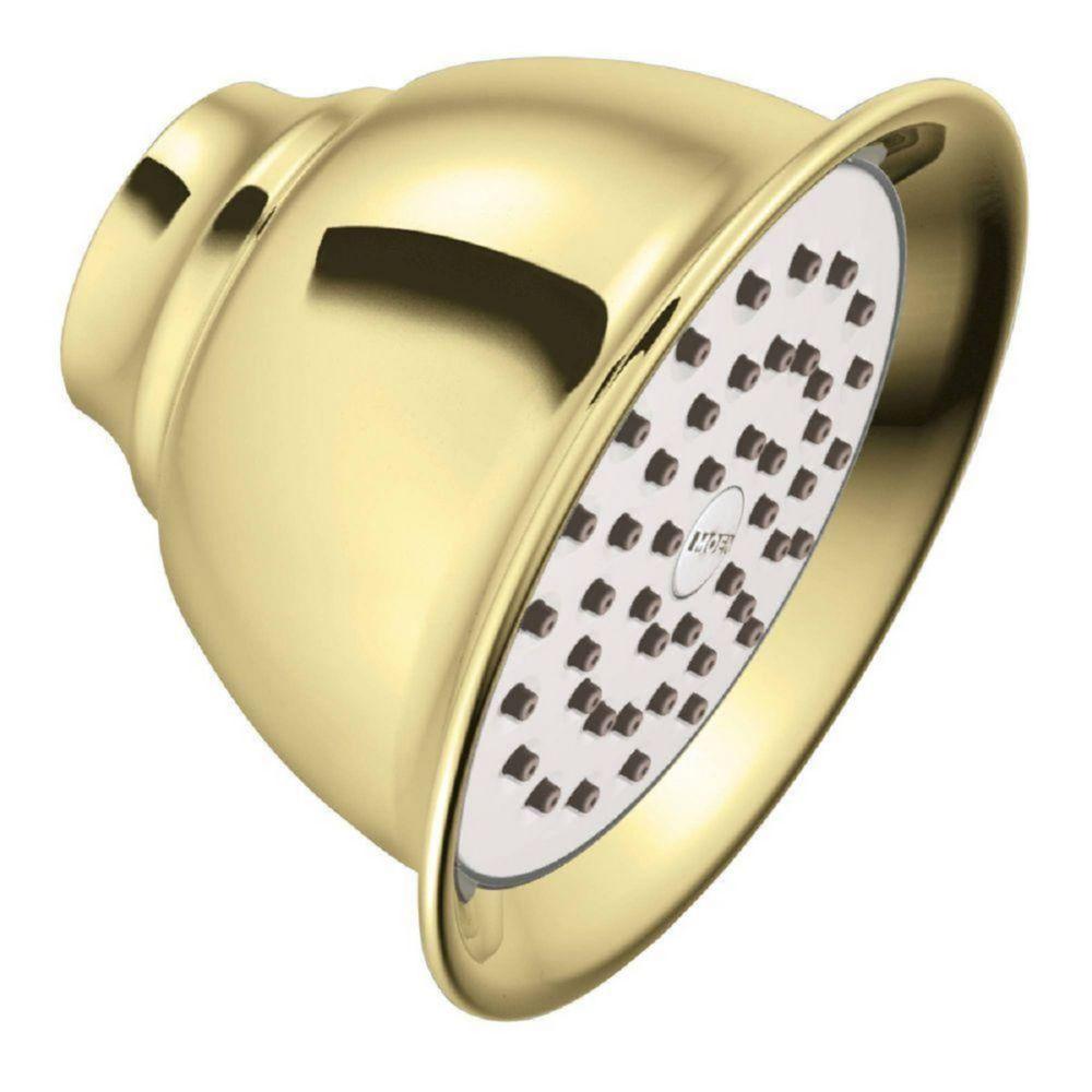 Single-Function Standard Showerhead in Polished Brass