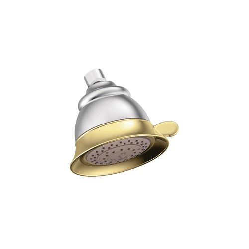 Four-Function Standard Showerhead in Chrome and Polished Brass
