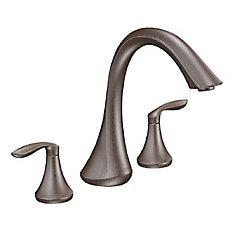 Eva 2-Handle Deck-Mount Roman Tub Faucet Trim Kit in Oil-Rubbed Bronze
