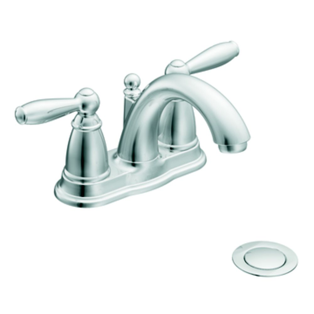 Princeton 8 Inch Widespread 2 Handle Low Arc Bathroom Faucet In Polished Chrome With Speed