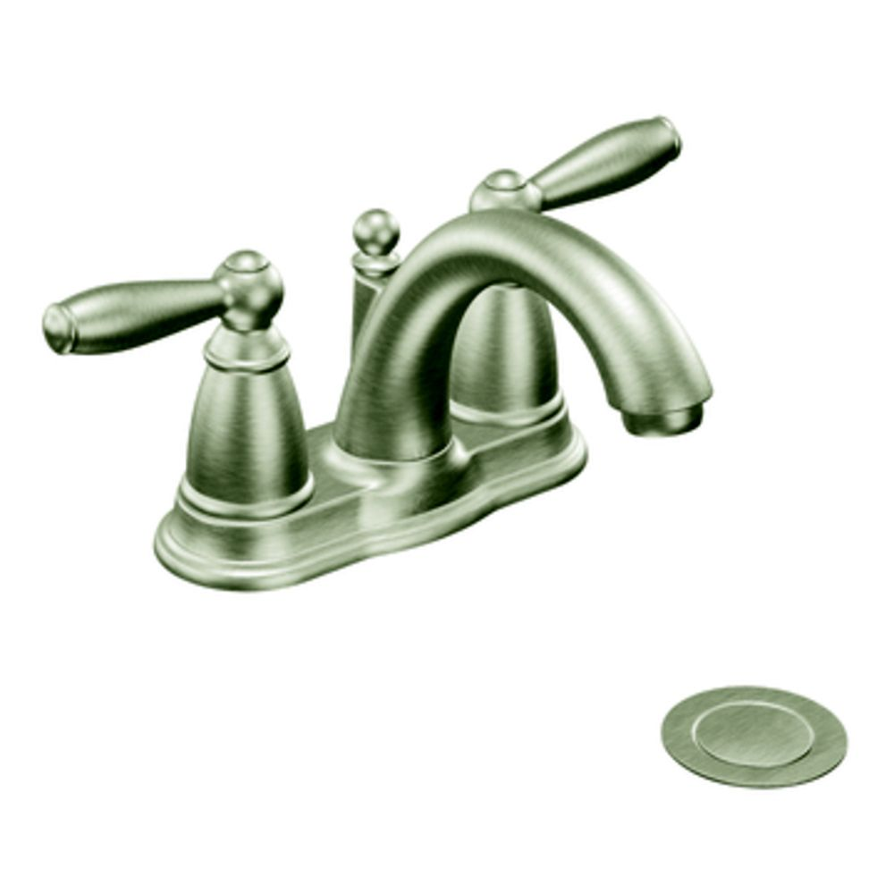 Brantford 2-Handle Bathroom Faucet in Brushed Nickel Finish