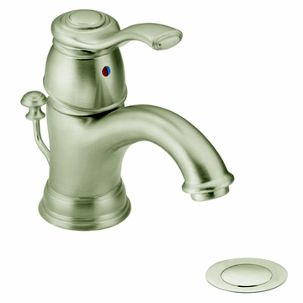 Moen Kingsley Single Handle Bathroom Faucet In Brushed