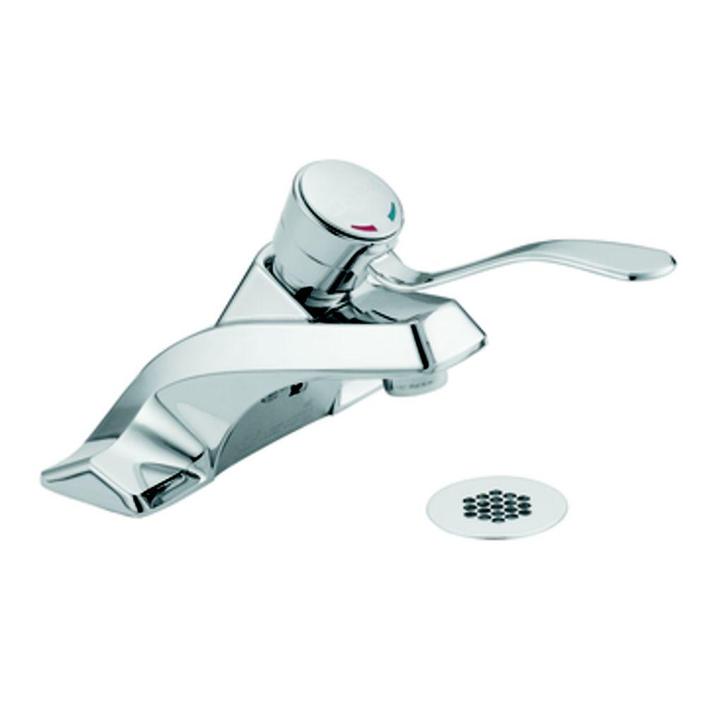 Commercial - Robinet de lavabo à 1 poignée - fini chrome