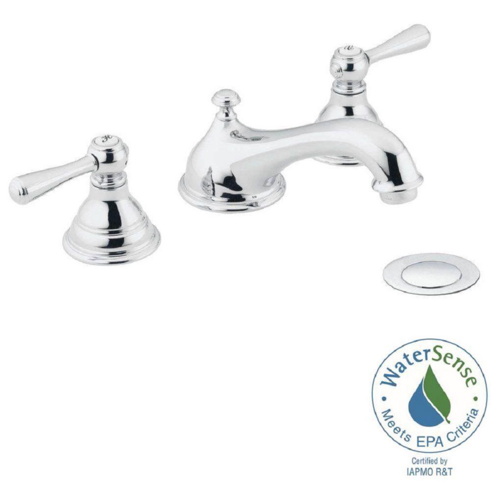 Kingsley - Robinet de lavabo à 2 poignées ajustables (de 8 à 16 po) avec garniture (garniture seu...