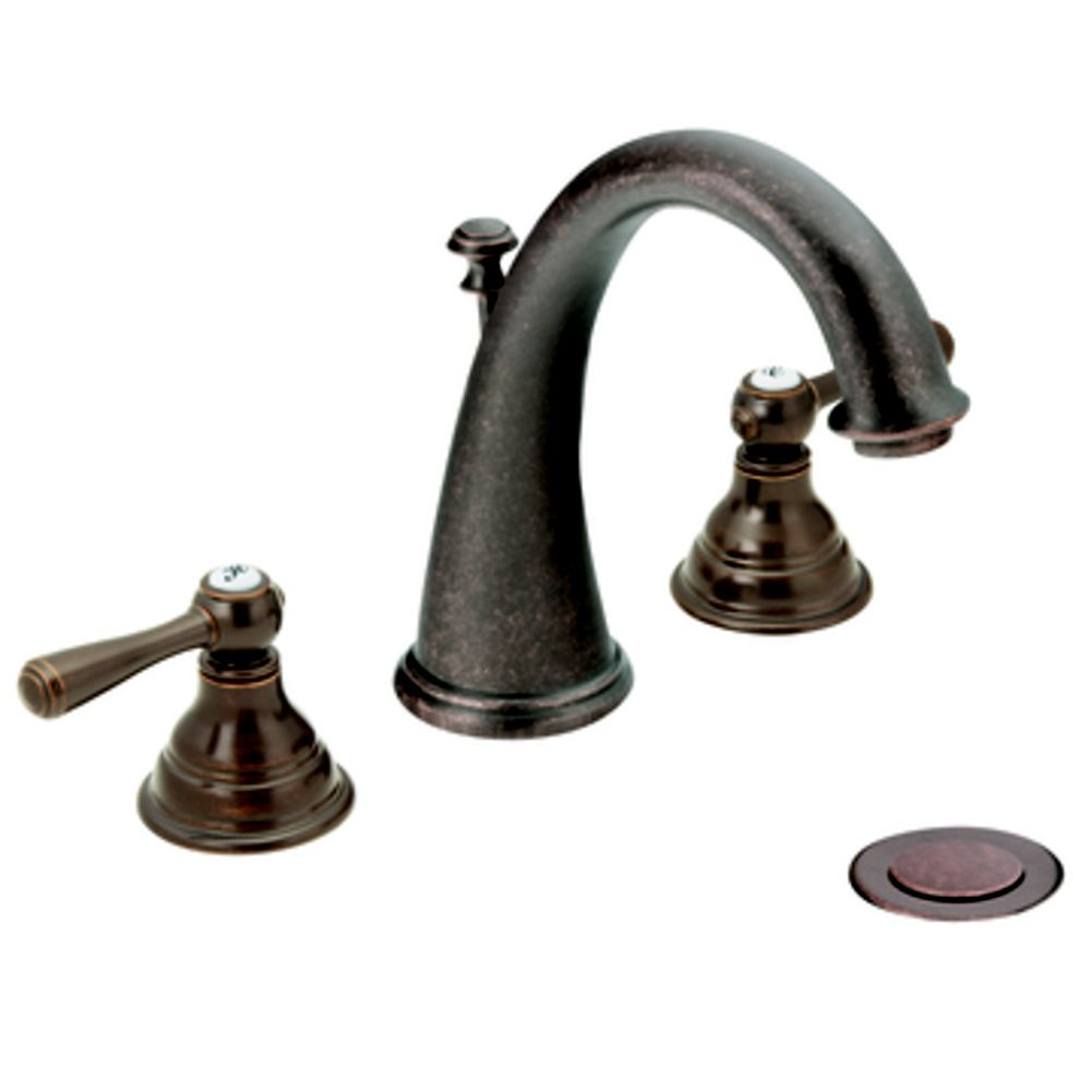 Kingsley Widespread 2-Handle Bathroom Faucet in Oil Rubbed Bronze Finish