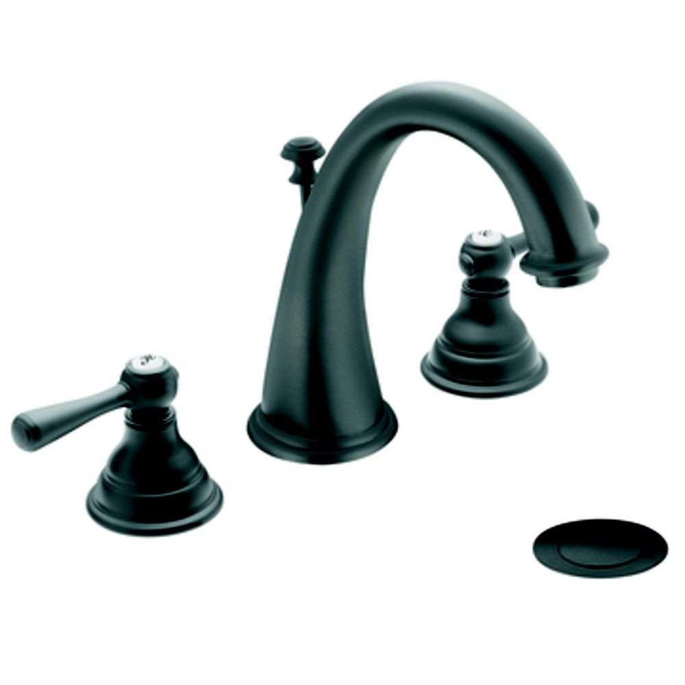 Moen Kingsley 2 Handle Widespread Bathroom Faucet Trim Trim Only Wrought Iron Finish The