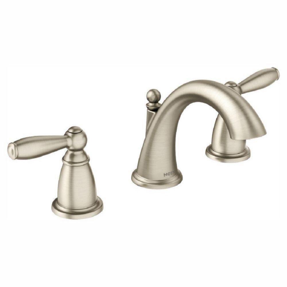 Moen brantford 8 inch widespread 2 handle bathroom faucet - 8 inch brushed nickel bathroom faucet ...