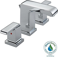 Arzo Widespread (8-inch) 2-Handle Low Arc Bathroom Faucet in Chrome with Lever Handles