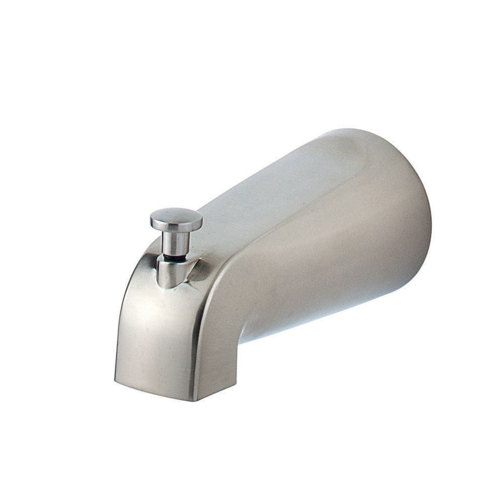 5 Inch Quick Connect Tub/Shower Diverter Spout in Brushed Nickel