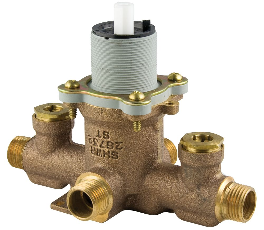 Single Control Ceramic Disc Pressure Balance Valve With Stops