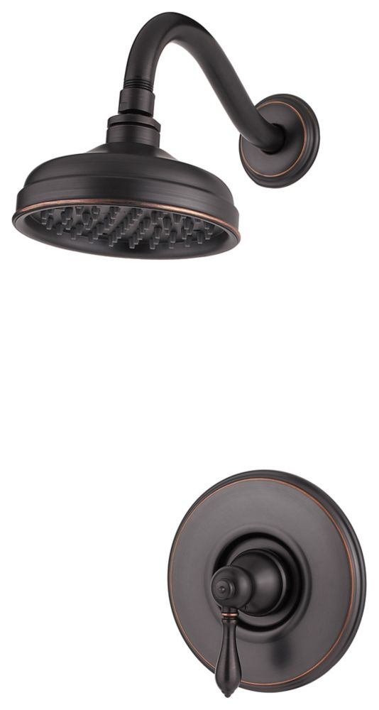 Marielle Single-Control Shower Faucet in Tuscan Bronze
