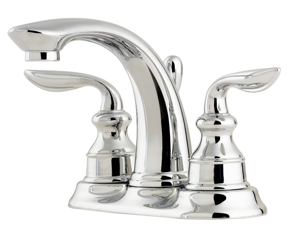 pfister avalon lead free 4 inch centerset lavatory faucet in polished chrome the home depot canada. Black Bedroom Furniture Sets. Home Design Ideas