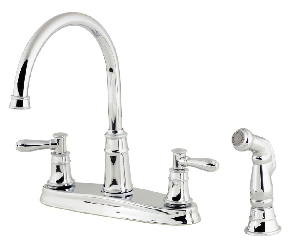 Harbor Lead Free Four-Hole Two-Handle High-Arc Faucet in Polished Chrome