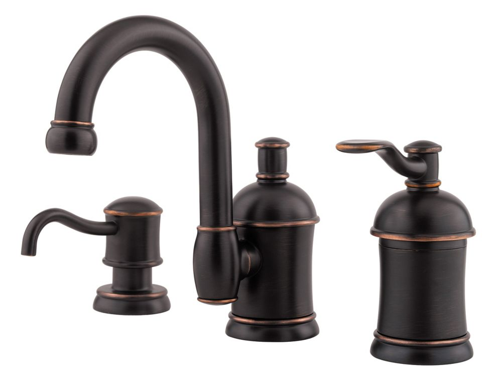 Amherst Lead Free Widespread Single Control Lavatory Faucet In Tuscan Bronze