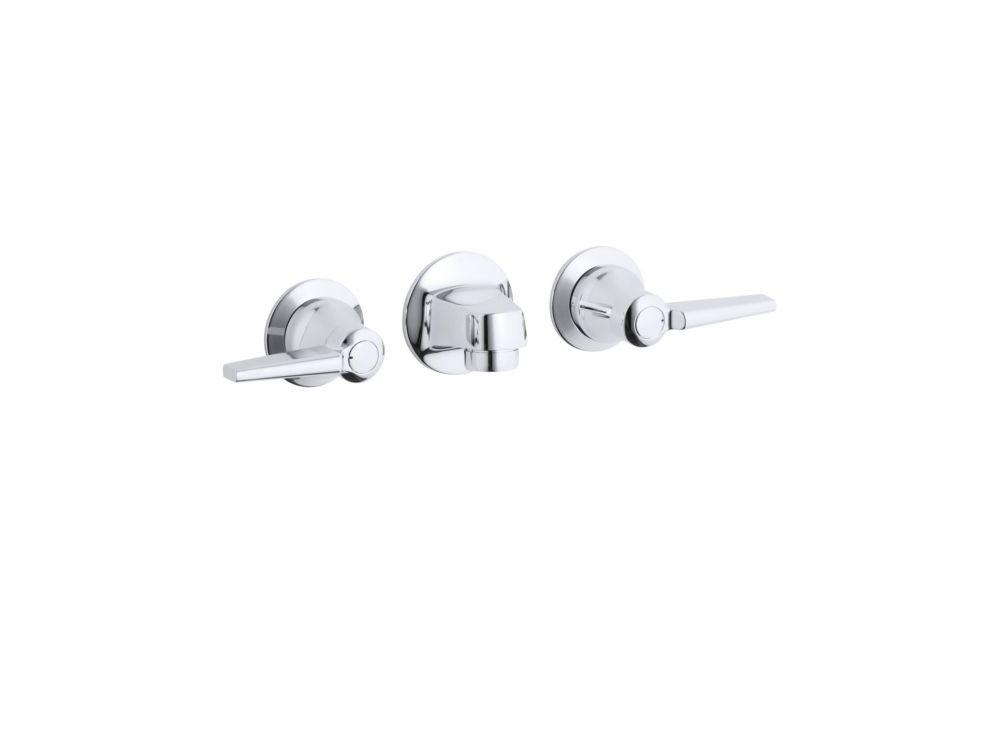 Triton Shelf-Back Bathroom Faucet in Polished Chrome Finish