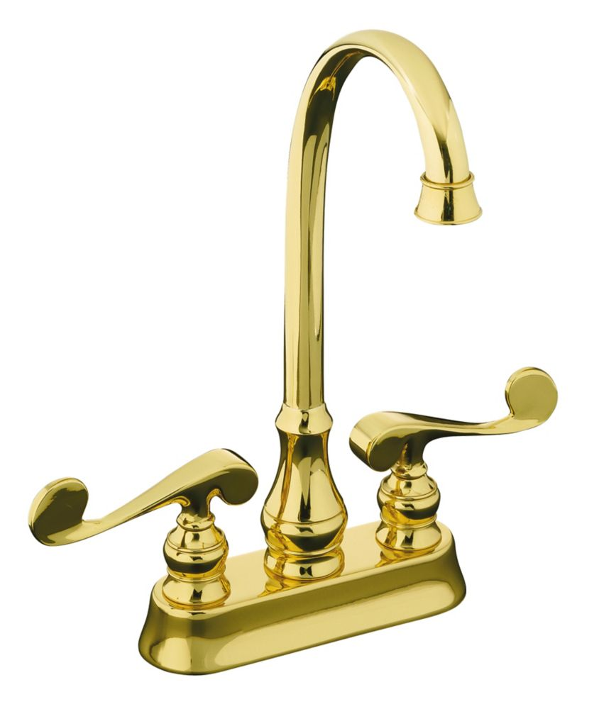 Revival Entertainment Sink Faucet in Vibrant Polished Brass Finish